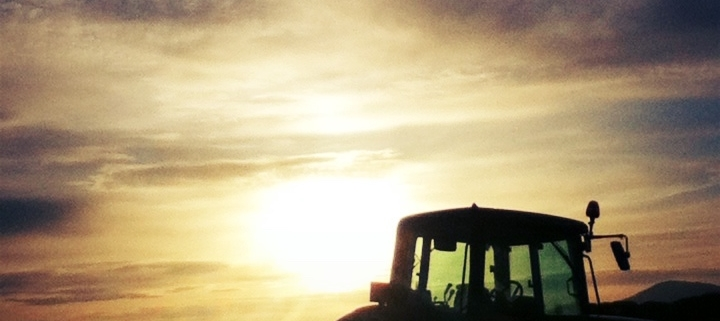 tractor-and-sunset